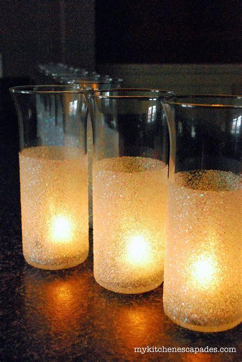 glitter vases for wedding or decorations diy