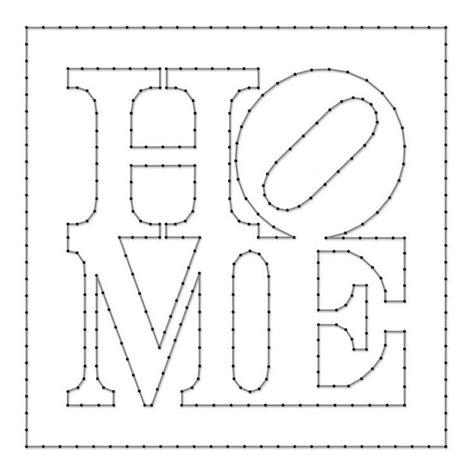 Schablone Schrift Selber Machen by Home Schriftzug Schablone Fadenkunst Faden