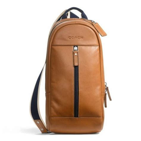 Coach Cus Sling Backpack 1 coach 70811 heritage web saddle brown leather sling