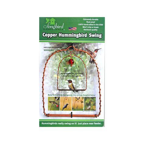 copper hummingbird swing wild bird store