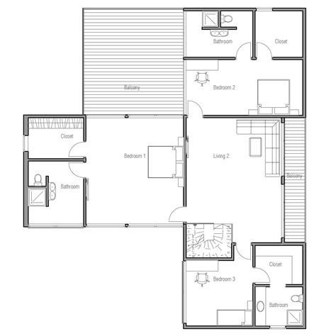 new house plans for 2013 contemporary home plan with three big bedrooms and