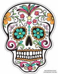 sugar skull masks coloring pages