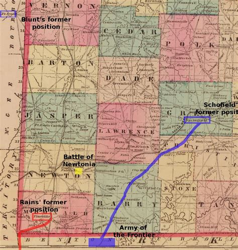 missouri border map the armies of the frontier stirring on the arkansas