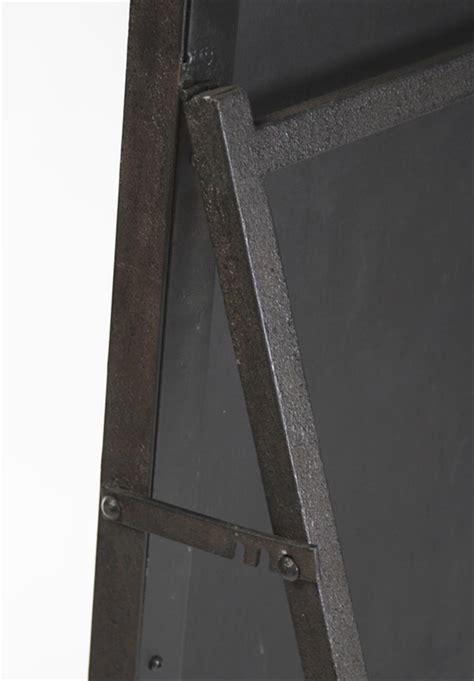 simon contemporary industrial metal frame floor mirror