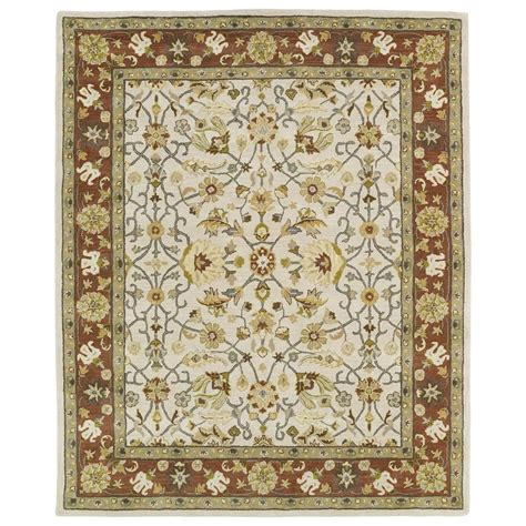 8 X 11 Area Rugs Kaleen Taj Ivory 8 Ft X 11 Ft Area Rug Taj15 01 8 X 11 The Home Depot