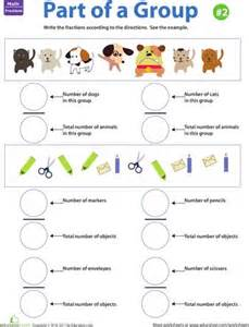 fraction practice part of a group 2 worksheets