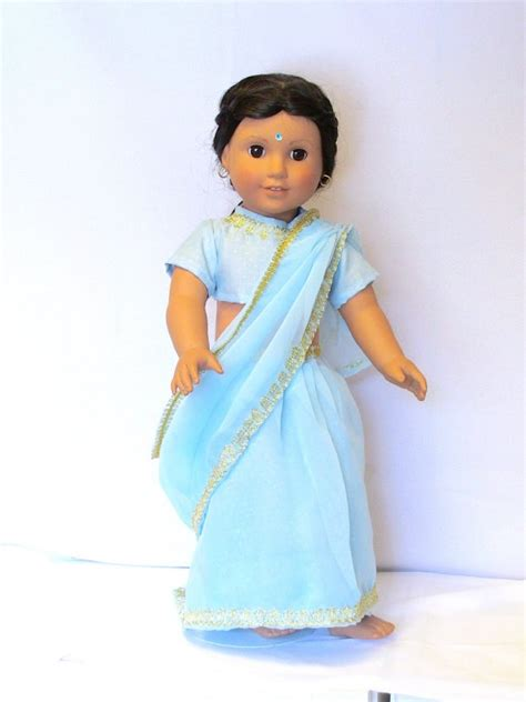 Cantika Syari Babyblue baby blue sari for 18 american doll by adoradollhouse on etsy 30 00 american doll