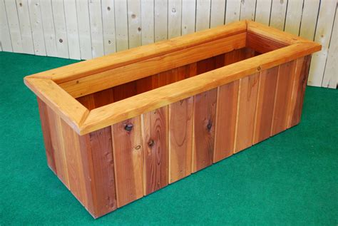 pl box redwood rectangle planters the redwood store