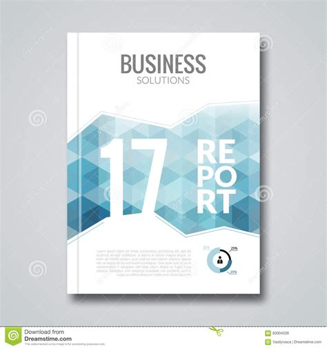 cover template design vector cover design report template hex graphic concept