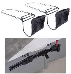 mattress holders lockdown bed mounted rifle or shotgun holder