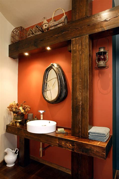 Modern Bathroom Amenities Timber Framed Home Fused With Modern Amenities In New