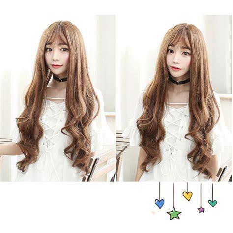 Rambut Palsu Surabaya wig rambut palsu model wavy 65 cm brown jakartanotebook