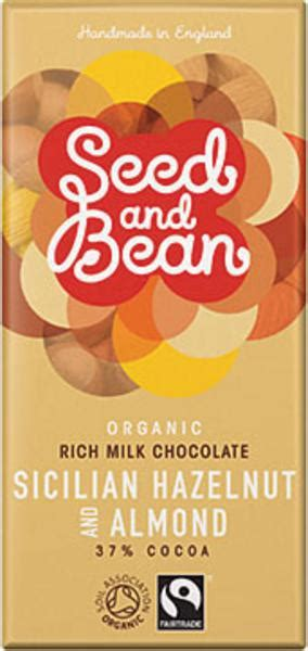 Gb 500gram Almond Milk Chocolate fairtrade organic hazelnut and almond milk chocolate in