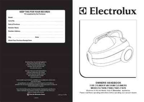 Vacuum Cleaner Electrolux Z1660 electrolux z1660 vacuum cleaner manual for free now 11bcc u manual