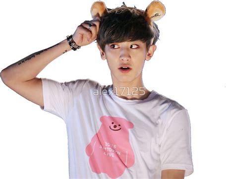 Korean Wall Stickers quot chanyeol park chanyeol of exo w headband quot stickers by