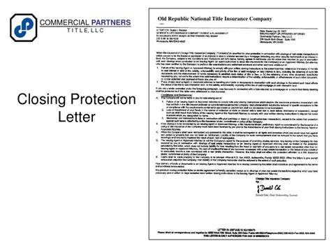 Closing Protection Letter Kentucky Mn Title Insurance A To Z