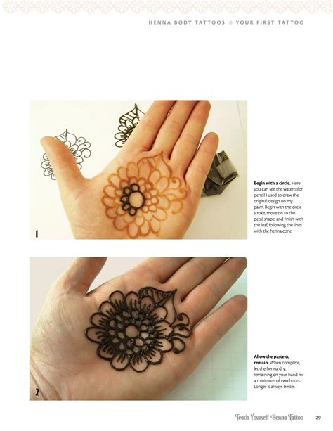 henna temporary tattoo instructions teach yourself henna mehndi with easy