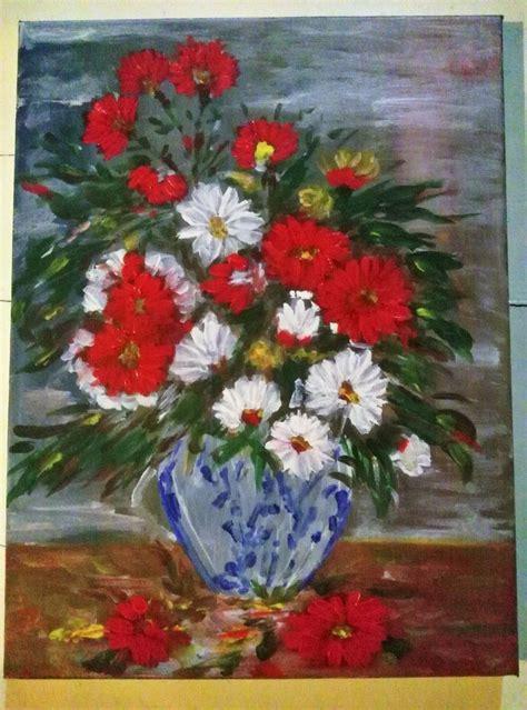 vasi di fiori dipinti quadro dipinto ad olio raffigurante un vaso di fiori per