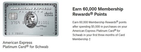 Transfer American Express Gift Card To Bank Account - american express platinum card for schwab 60 000 points bonus 100 statement credit