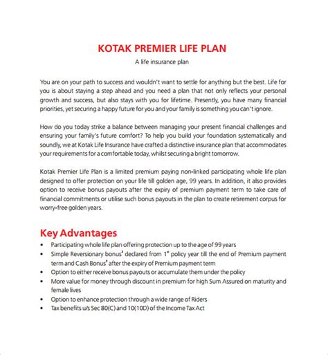 sle life plan template 8 free documents in pdf