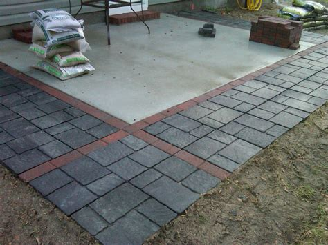 Concrete Patio With Pavers Concrete Patio Pavers Pictures To Pin On Pinterest Pinsdaddy