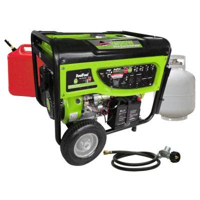 smarter tools 6 500 7 500 watt dual fuel generator with