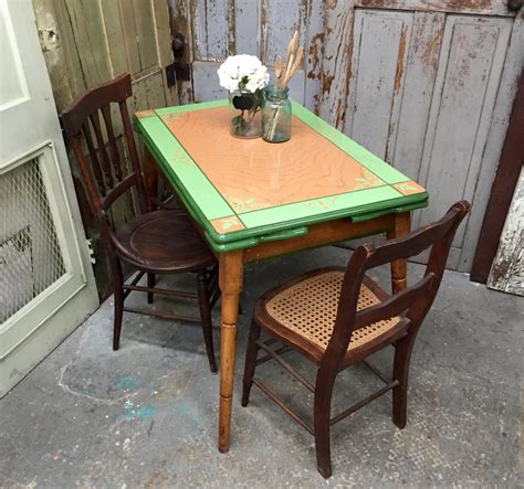 Vintage Enamel Kitchen Table Enamel Top Table Antique Kitchen Table Farm Dining Table