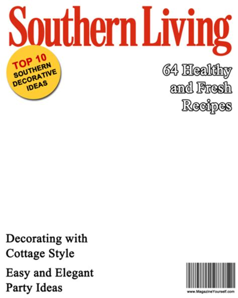 seventeen magazine cover template create southern living magazine covers