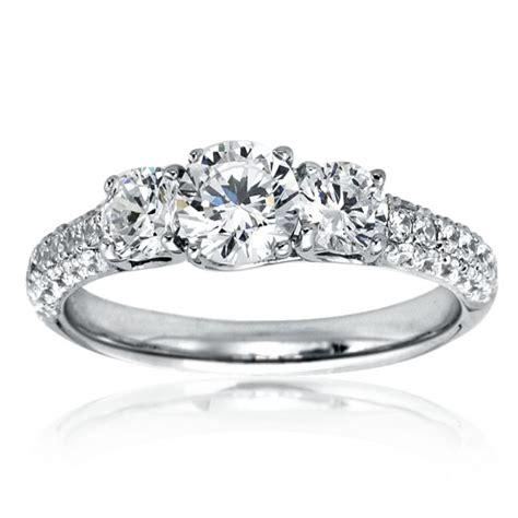 mazal 3 engagement ring with