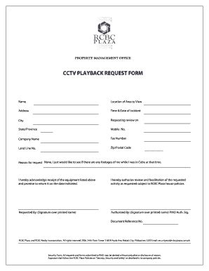 typical cctv request form fill online, printable