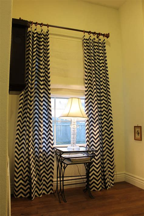 chevron navy curtains 84 quot navy zigzag chevron curtain panel
