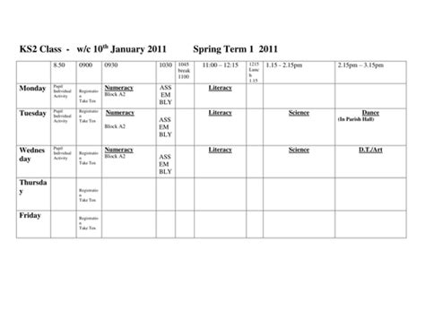 blank week timetable by emmer88beetle teaching resources