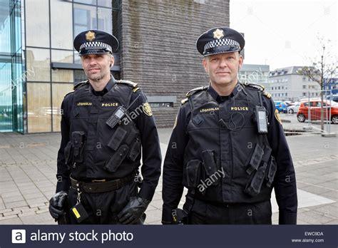 Two Officers by Two Logreglan Officers In Reykjavik