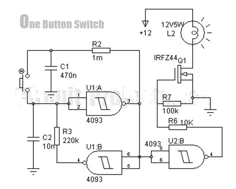 Ic Power Cmos Hcf4069ube digital key with just one button circuit diagram