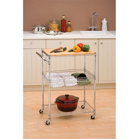 Seville Classics Kitchen Utility Cart With Bamboo Top by 87 Best Wish List Home Edition Images On For