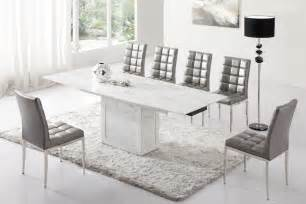 Dining Table And Chairs Gray Zeus White Grey Marble V Leg Dining Table And 6 Chairs