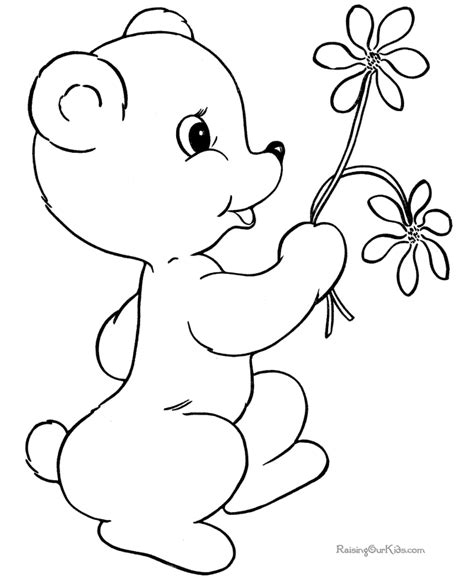 teddy bear coloring pages to print coloring home
