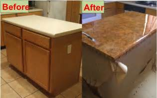 Kitchen Countertops Refinishing Easy Diy Concrete Kitchen Counter Tops On A Budget Do It