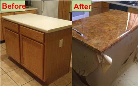 how to refinish laminate counters with faux marble do it