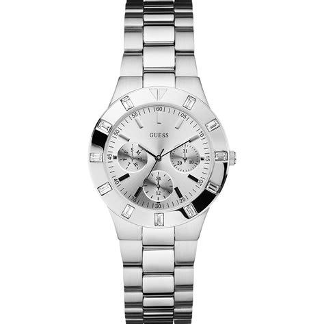 Guess Collection 35003 Silver Gold White guess w11610l1 horloge glisten silver