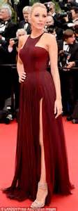 White Lively S M L Dress 44238 lively is elegantly in thigh split dress as grace of monaco premiere daily mail