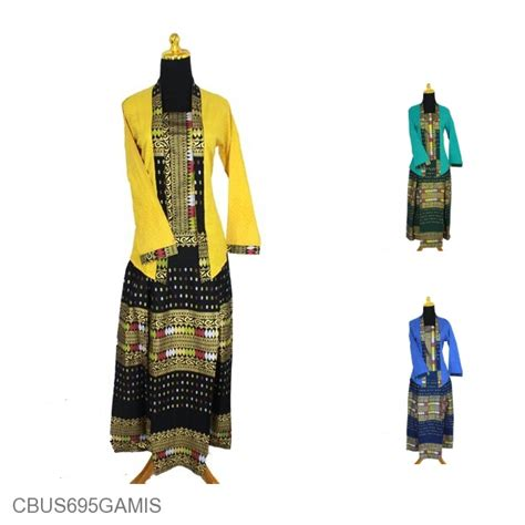 Baju Setelan Muslim Rok Motif Songket baju batik sarimbit setelan family motif songket tumpal