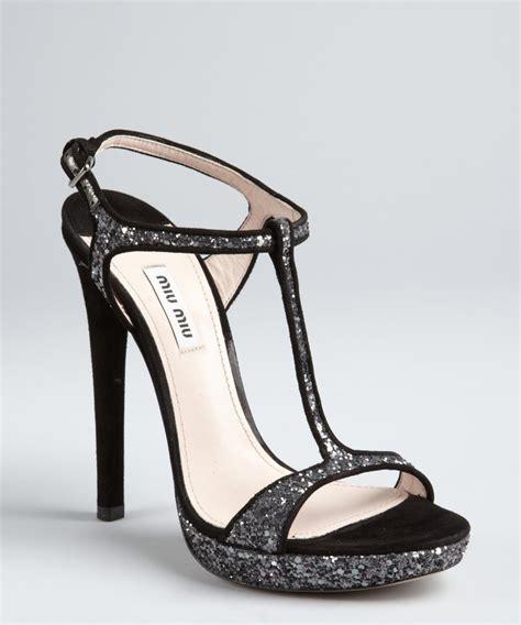 black and silver heels qu heel