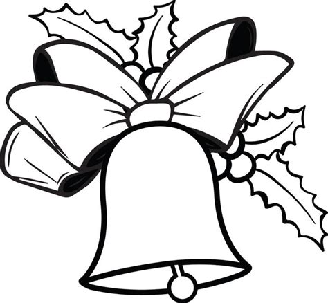 Free Printable Coloring Pages Of Christmas Bells | christmas bell coloring pages