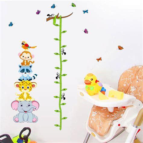 printable animal height chart funny animals zoo monky giraffe bird baby children height