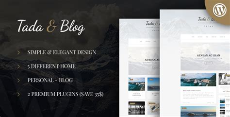 free download tada blog personal blog wordpress