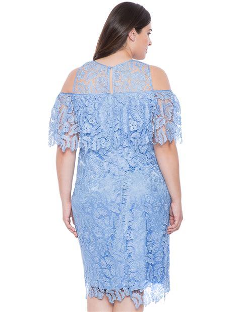 Ruffle Lace Dress lace ruffle dress s plus size dresses eloquii