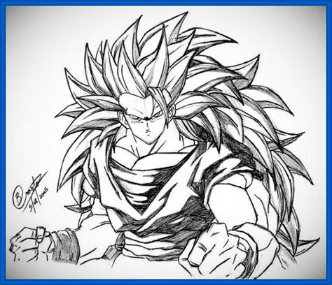 imagenes goku ssj3 dibujos de dragon ball z goku ssj3 archivos dibujos de