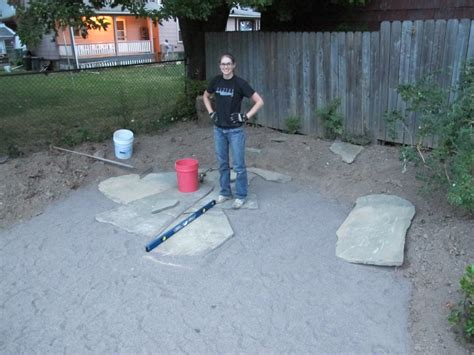 how to install flagstone patio how to install a flagstone patio with irregular stones