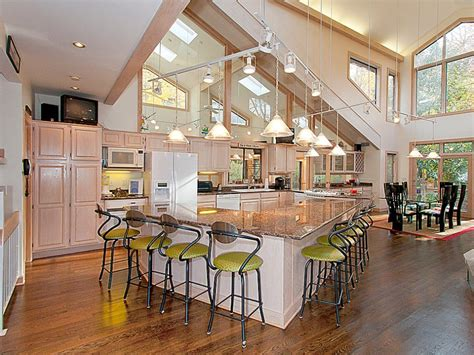 kitchen island with open floor plans